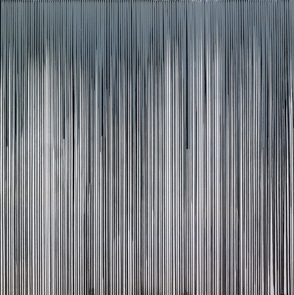 Poured Lines: Mixed Greys and White, 1994